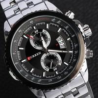 Curren Men Full Stainless Steel Watches Quartz Sports Watch Business Military Clock Relogio Masculino vogue branded watch men