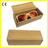 Handmade and custom logo free gift bamboo wood box or case