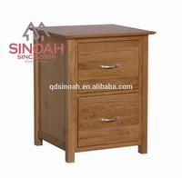 Solid Oak Wood living room furniture set 2 DRAWER FILING CABINET(KN2FC)