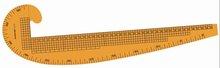 Marca kearing, 58 cm curva francesa régua de costura, Régua vestuário econômico para curve desenho de linha # 6501B