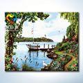 a pintura da água 40x50cm zhuhai truehearted colorir fotos de vasos