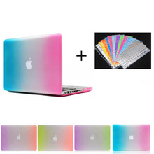 Rainbow pc shell hard case +keyboard screen protector for Macbook Pro