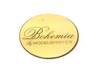 custom cosmetics logo,metal sticker