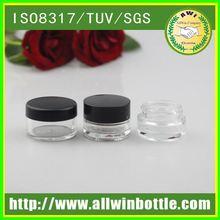 GS0051/5ml mini high quality glass cosmetic cream jars