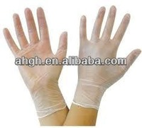 POWDERED VINYL DISPOSABLE GLOVES WORK GARAGE MEDICAL EXAMINATION CLEAR (CLEAR, MEDIUM)