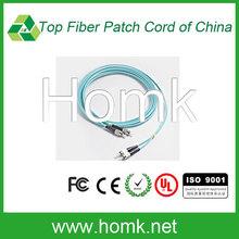 FC/UPC fiber optic patch cord,2.0mm Multimode fiber optic patch cord,OM3 simplex fiber optic patch cord