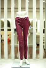 Beautiful Squared Faux Suede Fit Trousers