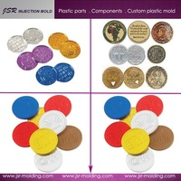 Hot sale ! Dongguan manufacturer 2015 new products cheap plastic coins custom