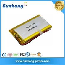 li-polymer 3.7v 2200mah rechargeable ultra thin battery