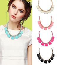 Fashion Crystal Chain Collar Choker Statement Bib Charm Necklace Jewelry