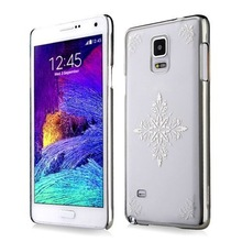 New Arrival Royal Style Snow Pattern Silver Hard PC Case Cover for Note 4