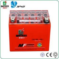 ATV Motorcycle Parts PVC Dry Battery 12N7-BS