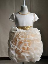 2015 unique boutique Flower Girl FEIKE/ Ball Gown dress for children/Bling sequin fairy dress