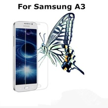 HD Clear Anti-Shock Anti Broken arc Edge for a3009 Mobile Phone anti-glare tempered glass screen protector for Samsung galaxy A3