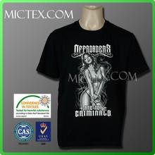 2015 top quality custom design men's t shirt printing OEKO-TEX OEM