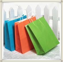 Custom Logo Printed craft gift shopping paper bag Wholesale