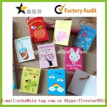 2015 Fancy design sample birthday invitation card,greeting card,wish card with string