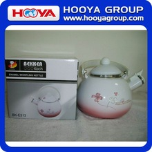Beautiful Design 2.3L Kitchen Enamel Tea Kettle enamel whistling kettle