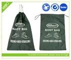 blackish green drawstring bag for storage shoes