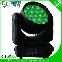 Headlamp zoom for 19*12w led rgbw moving head wash light