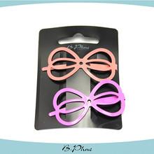 hot sell pink cute hair clips kid's hair clip / wholesale hair accessories