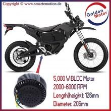 Electric Motorcycle conversion Kit BLDC HUB MOTOR 48V/72V 5KW Air cooling !CE