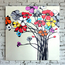 Frameless beautifull canvas painting of flowers for sale