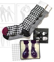 invernali 2014 nuova collezione classico bianco e nero modello blocco personalizzati oem giapponese collant calze da uomo