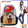 BBP106 Super Large Zipper Cute dog pattern backpack for high school girls