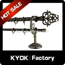 2014 Popular Home Decorative Drapery rod with Finial,Drapery Hardware,Bracket Screw