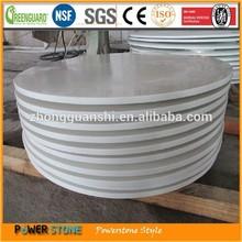 Pure White Quartz Man Made Stone Coffee Table