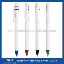 Solid White Plastic Wacky Pen (VBP267)