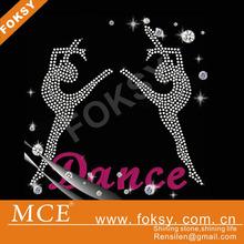 best price for dance iron-on rhinestone motif,iron-on rhinestone motif,zumba dance iron-on rhinestone motif