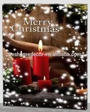 wholesale fashion Christmas decoration canvas picture led