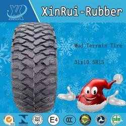 Mud Terrain Tire 31x10.5R15 snow radial off road 4x4 mud tyre