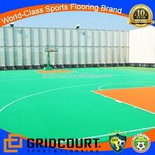 outdoor pp interlocking plastic basketball flooring