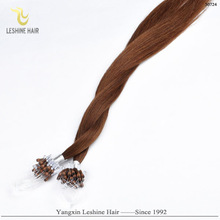 Alibaba Hot Sale 100% Strong Stick Double drawn Cheap Indian hair extension micro rings copper