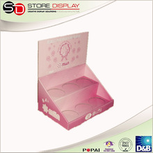 Baby Skin Care Counter display unit Corrugated display stand Cup Counter Display