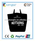 Cotton canvas cloth shopping bag natural colour with logo printing