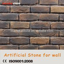 China standard size thin rustic art brick for wall coating