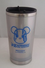 Production 2014 Winter inner stainless steel & outside plastic printing any color auto cups