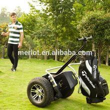 Environmental cheap self balance electric golf equipment with golf bag carrier