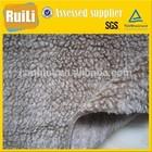 50% wool 50% polyester circle knit fake Sherpa fur faux sheep fur for making winter coat boots lining cushion