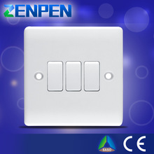 British standard new product 2014 remote control 3 gang smart touch electrical switches