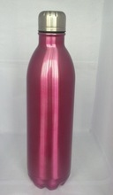 double layer high-quality LFGB FDA metal cola water bottle creative shape bottle bowling bottle