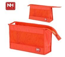 Water Resistant Nylon Travel Kit Breathable Gridding Ultralight Cosmetic Organizer