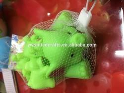Cartoon elephants shape squeaky vinyl pet toy for cute kid