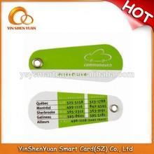 Low price non-standard plastic Irregular Leaf Shape Card