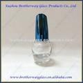 venda quente forma de bola de pedra alta unha polonês garrafa de vidro colorido com tampasdeplástico