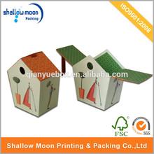 Custom Design House Shaped Cardboard Craft Paper Gift Box